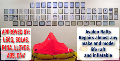 repair almost any make of life raft or inflatable boat