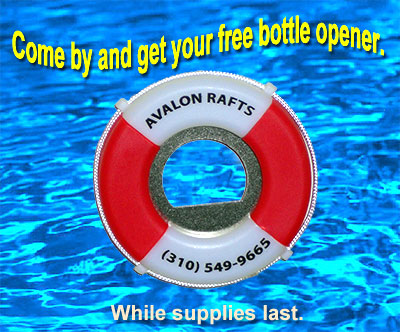 Free bottle opener from Avalon Rafts