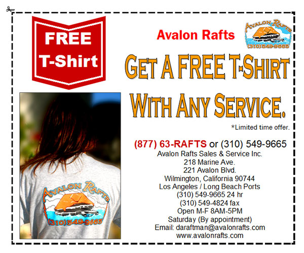 Avalon Rafts service coupon