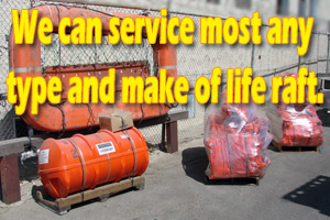 Avalon Rafts services almost any type and make of life raft and liferafts